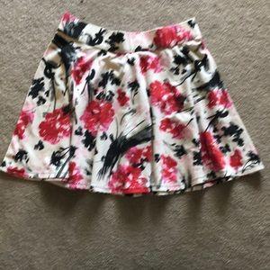 Abercrombie Flower Printed Skater Skirt